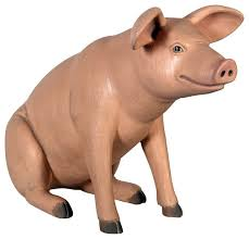 sitting in hog heaven pig statue traditional garden statues