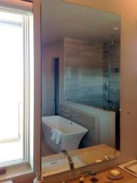 standoff and floating mirrors u2014 shower doors of dallas