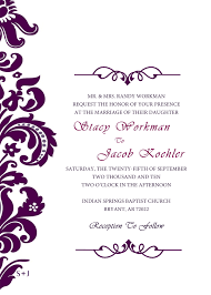 purple wedding invitation templates clipart arts u0026 crafts