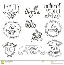 organic vegan food written sign background stock