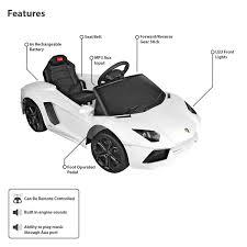 Lamborghini Aventador Dimensions - lamborghini ride on car for kids buydirect4u