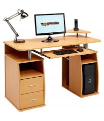 Computer Desk Drawers Emperor Beech Desk With A4 Drawer Piranha Trading