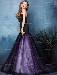 purple wedding dress black and purple mermaid wedding dress devilnight co uk