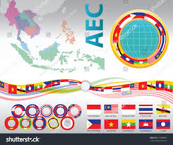 aec asean south east asian design stock vector 319088081