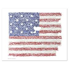 American Flag Picture American Flag National Anthem Word Art Print Art Of Words