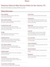 menu at blanquita u0027s mexican restaurant 1619 goliad rd