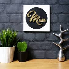 Home Decor Wall Signs by Mum String Art Unique Handmade Gift Idea For Mother U0027s Day Mum Sign