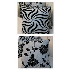 tripleclicks com punk black grey flower throw pillow case sofa