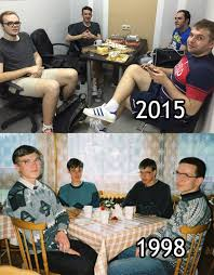 Party Hard Meme - russian nerds 17 years later imgur