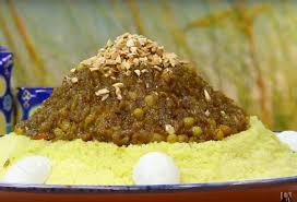 cuisine choumicha arabe choumicha couscous au poulet et oignons caramélisés tfaya