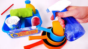 Cleaning House Cleaning House And Kitchen Dishes Playset For Kids Youtube