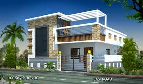 100 Sq Yds 30x30 Sq Ft East Face House 1bhk Elevation View Jpg 1 Bhk Duplex House Plans