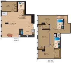 2 Bedroom 2 Bath Duplex Floor Plans by Floor Plans Of The Gramercy In Arlington Va