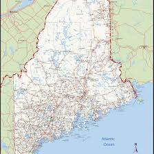 map of maine with cities maine map large detailed map of maine with cities and towns