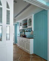 Mediterranean Style Kitchens - blue and white mediterranean style kitchen renovation interior