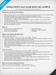 Operations Management Resume Operations Manager Resume Sample U0026 Writing Tips Resume Companion