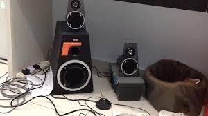 altec lansing home theater 5 1 altec lansing speaker test youtube