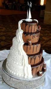 amazing wedding cakes amazing wedding compromise chocolate vs vanilla dreamy weddings
