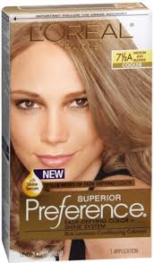 L U0027oreal Superior Preference Hair Color 7 1 2a Medium Ash Blonde