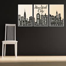 travel art print new york city art skyline living room decor