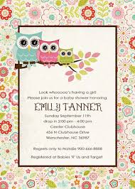 owl baby shower invitations template best template collection