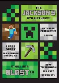 minecraft birthday invitation soooo cool kids pinterest