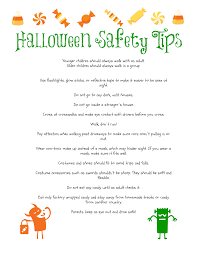 printable halloween safety tips the frugal fairy