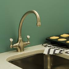 rohl perrin and rowe 2 handle bridge kitchen faucet in polished