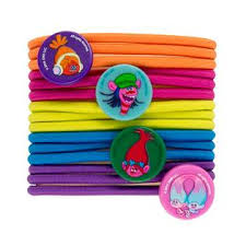 goody hair ties goody trolls braided hair elastics with charms assorted