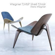 wegner ch07 shell chair 3d model cgtrader