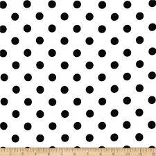 cotton jersey knit polka dots black discount designer fabric