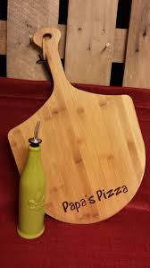 Customized Wedding Gift Personalized Bamboo Pizza Cutting Board Laser Engraved