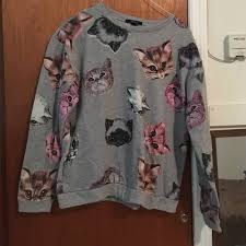 cat sweater 50 forever 21 sweaters cat sweater from s closet on