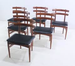 set of six rare danish modern dining chairs designed by poul