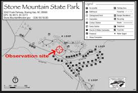 Nc State Parks Map by Observation At Stone Mountain State Park For Campers Saturday