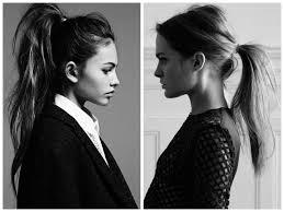 modern messy bun weave ponytail with bangs
