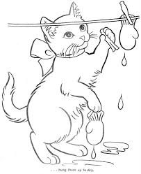 little kittens coloring pages