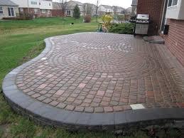 Circular Paver Patio Concrete Paver Patio Ideas Paver Patio Designs Paver Patio