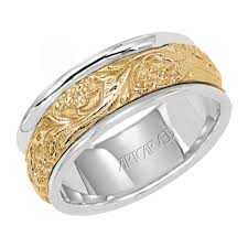 mens two tone wedding bands romm diamonds lyric intricate engraved two tone men s wedding