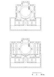 architectural drawings floor plan of mosque showing the second