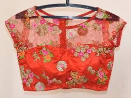 pattern of net blouse an design peachpuff net blouses buy latest collections page 2
