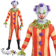 killer clown costume boy killer clown party suit second skin fancy dress