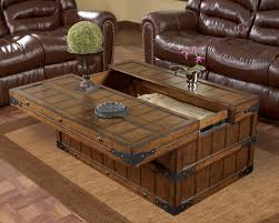 coffee tables simple brown rectangle rustic lift top cherry wood