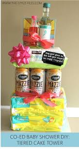 Drinks For Baby Shower - what to get for a co ed baby shower drinks u0026 diaper tiered cake