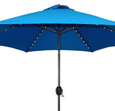Led Patio Umbrella 11 ft led offset patio umbrella in sunbrella sand 9 ft solar