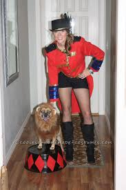 party city halloween costumes for dogs cool dog and owner couple costume lion tamer and her ferocious