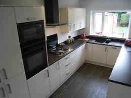 High Gloss Kitchen EBay - White gloss kitchen cabinets