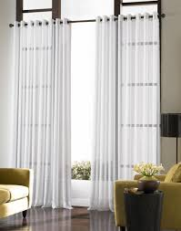 living room transparent drapes black steel curtain rods standing
