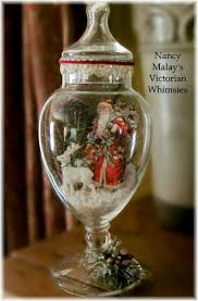 Christmas Table Decoration Glass by Vintage Christmas Table Decorations Glass Bell Dome Decoration