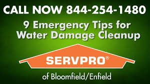 water damage cleanup 9 emergency tips servpro flood clean up